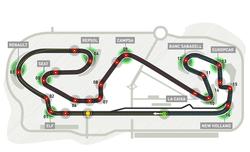 Карта на пистата в Испания
