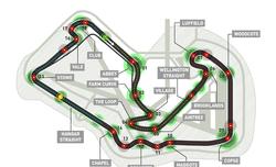 Карта на пистата Силвърстоун